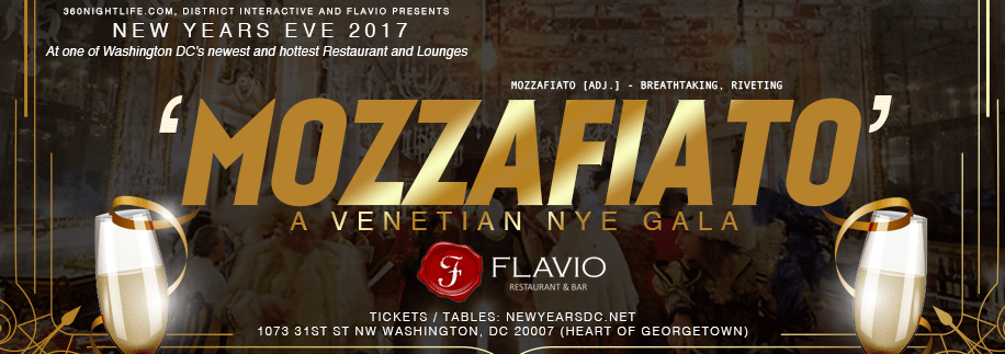 New Year's Eve Washington DC at Flavio 2017