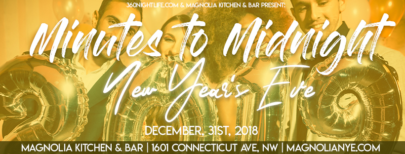 New Year's Eve Washington DC at Magnolia Kitchen & Bar in Dupont Circle 2019