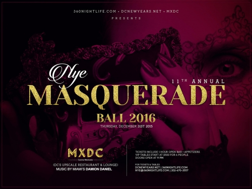 New Years Eve Washington DC Masquerade Ball at MXDC 2017