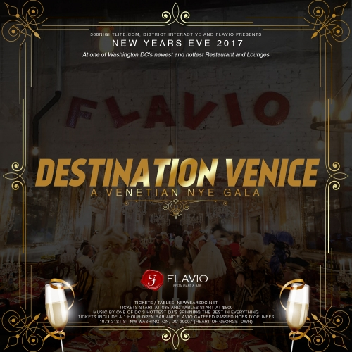 New Years Eve 2017 at Flavio - Destination Venice