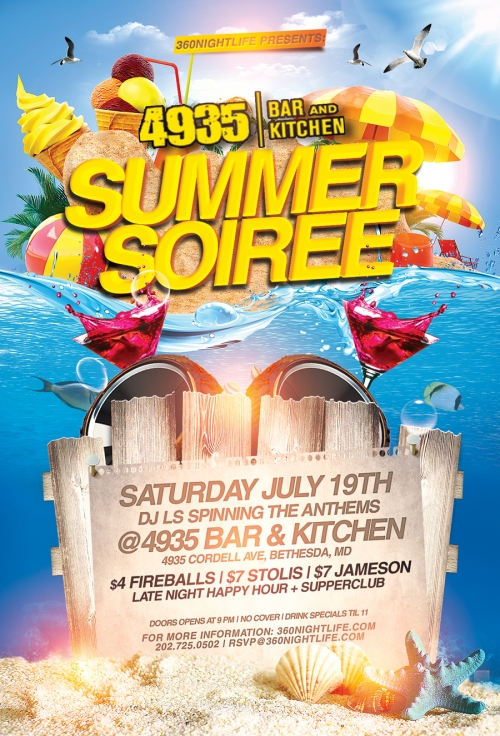 Things Will Heat Up At Our Summer Soiree via 4935 Bar & Kitchen This Saturday!