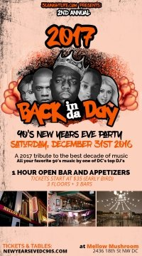 90's New Years Eve in Washington DC at Mellow Mushroom | Back in the Day 2017